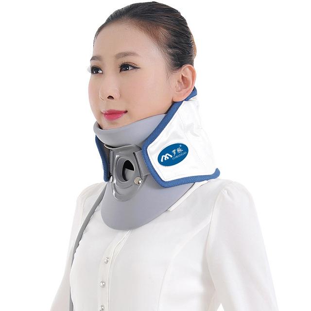 Neck Support Chaves do Agregado Familiar Dispositivo de Terapia de Tração Colar Cervical Ar Relaxar Alívio Da Dor Ferramenta Universal Tamanho de Cuidados de Saúde