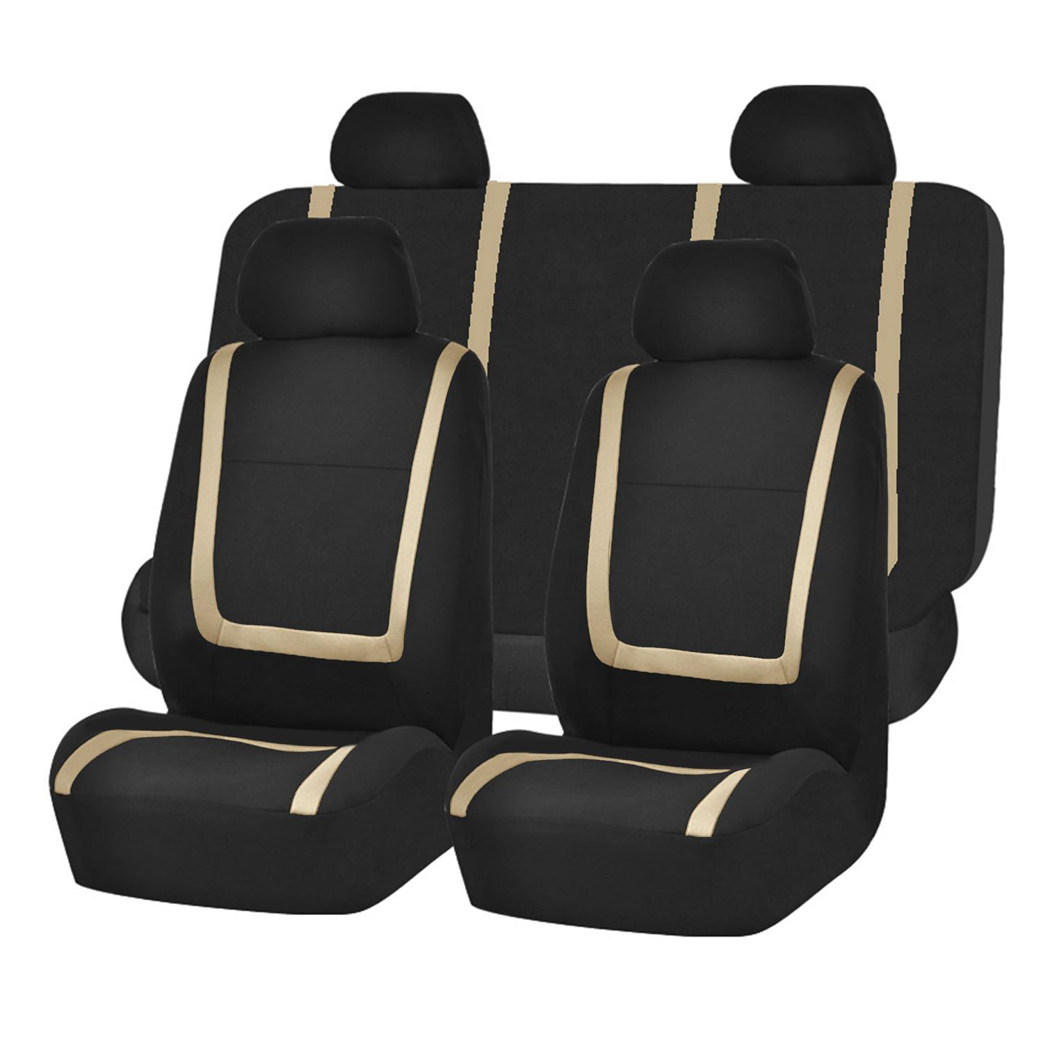 AUTO -Auto Seat Covers for Car Sedan Truck Van Universal Seat Covers Color: Beige