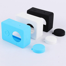 Centechia Colorful Camera Case Silicone Rubber Skin Housing With Protective Lens Cover Cap For Xiaomi Yi Accessories soft silicone protective cover cap for xiaomi sport camera 2