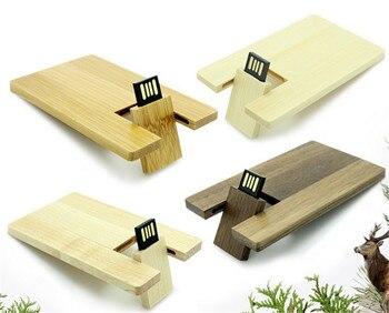 Custom LOGO Wooden Card USB flash drive 64GB Maple wood memory stick pen drives 32GB pendrive disk 4GB 8GB 16GB Usb drive gifts
