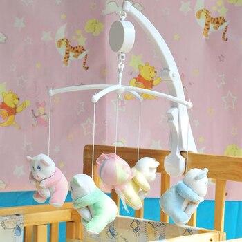 243ab880e Bebé infantil Rotary móvil cuna cama movimiento Music Box niños desarrollar  juguete regalo
