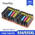 2 комплекта Замена чернильных картриджей для HP 934 935 XL 934XL 935XL для HP934 Officejet Pro 6812 6830 6815 6835 6230 принтер