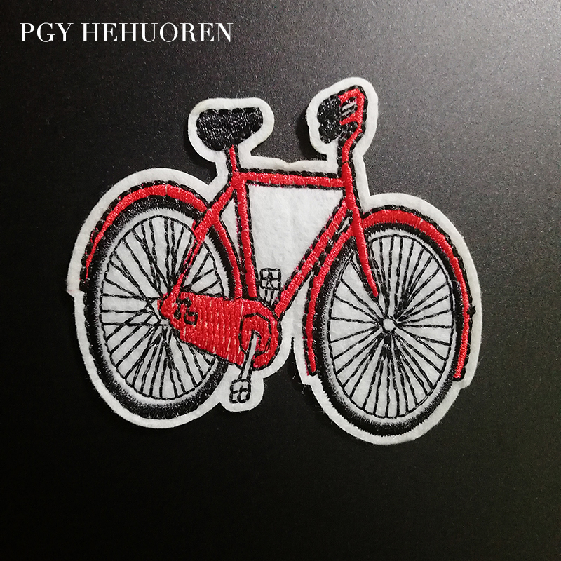 Cute Pretty Girl Riding Bicycle Embroidered Iron on Patch Free Postage