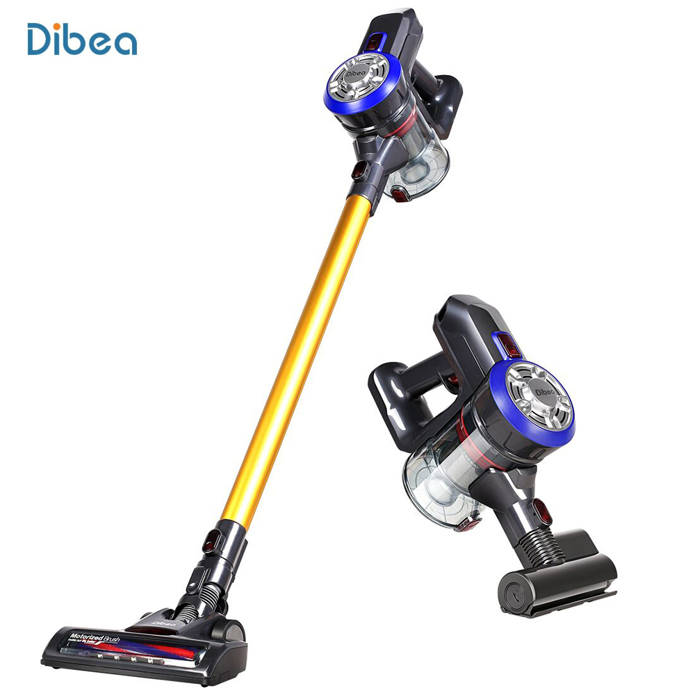 Dibea D18 Portable 2 In1 Lightweight Cordless Handheld Vacuum Cleaner Dust Collector Household Aspirator With Motorized Brush drill buddy cordless dust collector with laser level and bubble vial diy tool new