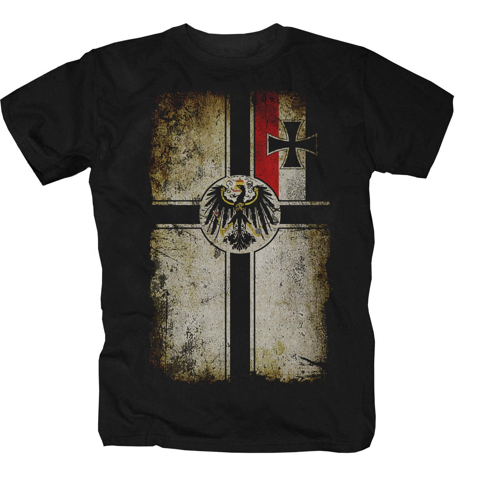 2018 New Mens   T     Shirts     Shirt     T  -  Shirt   Empire Home Germany Navy Flag Fun Print Round Neck Man