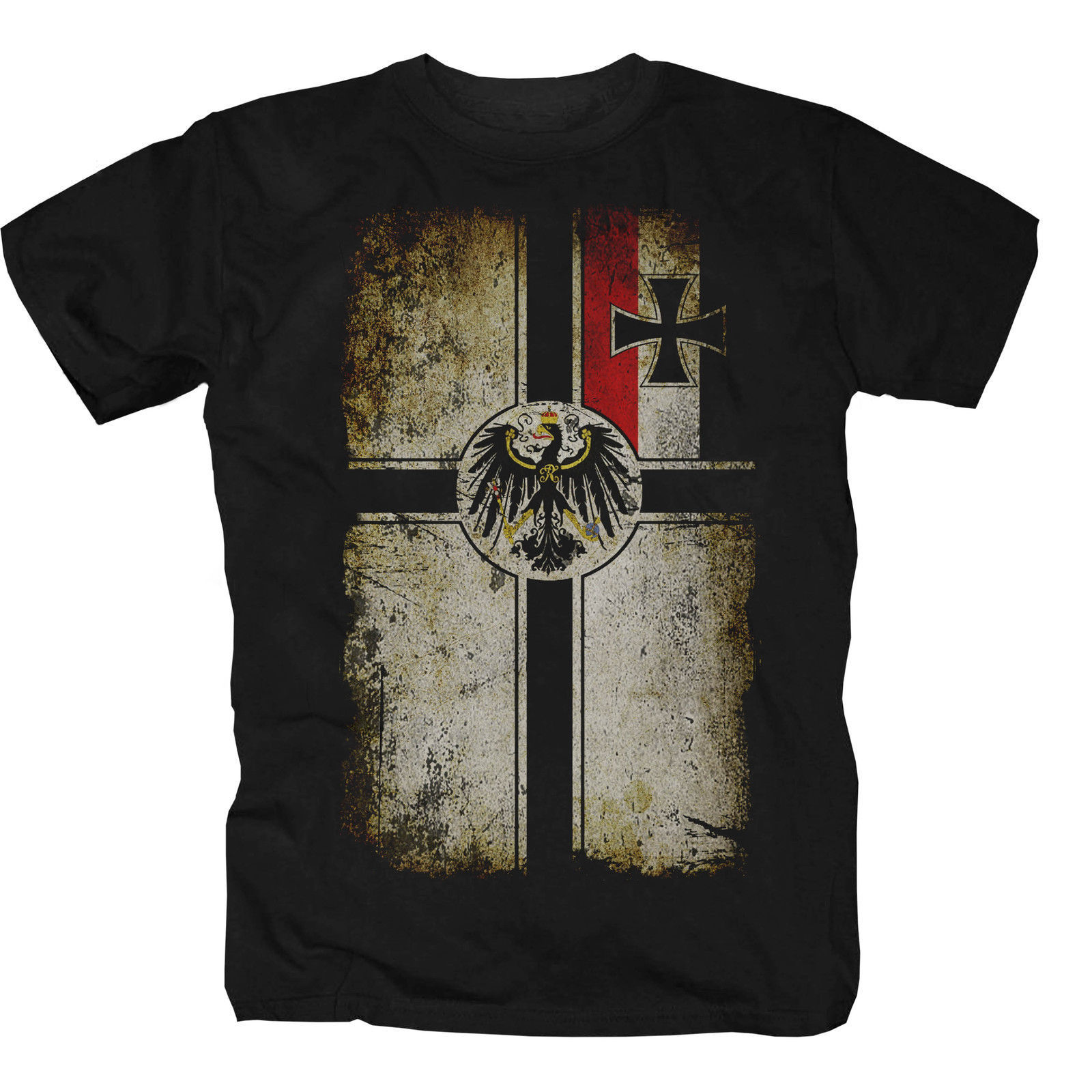 2019 New Mens T Shirts Shirt T-Shirt Empire Home Germany Navy Flag Fun Print Round Neck Man