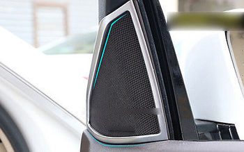 Aluminum Front Stereo Speaker Frame Cover Trim For Benz W212 E class 2015-2010