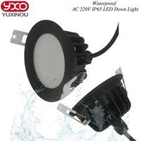 1 יחידות 5 W 7 W 9 W 12 W 15 W IP65 עמיד למים ניתן לעמעום led downlight עמעום 12 W LED אור ספוט smd led מנורת תקרת AC 85-265 V