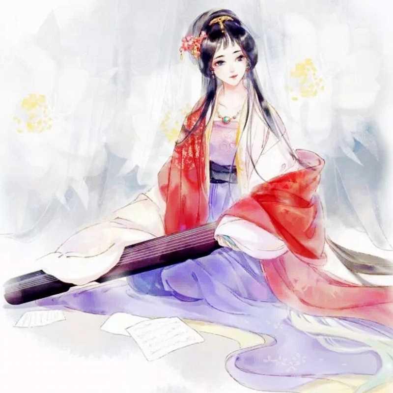 Книга для раскрашивания манги для взрослых девочек, антистрессовые книжки для рисования детей и взрослых, древние китайские Раскрашивание