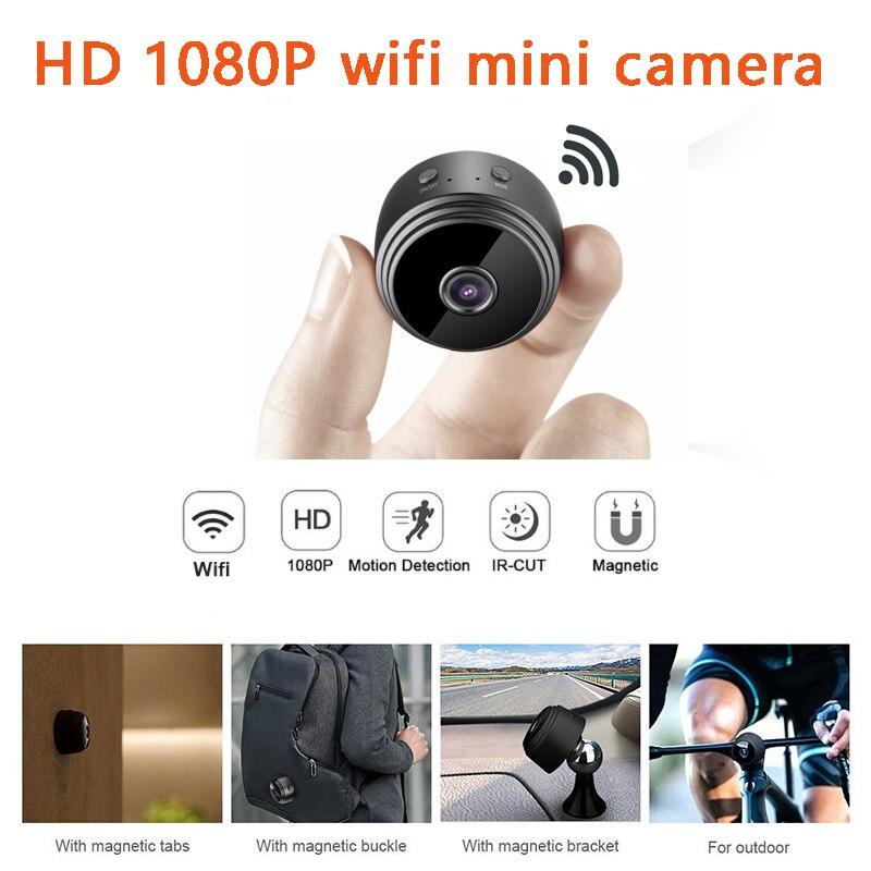 Micro WIFI Mini Macchina Fotografica del HD Con Smartphone App E di Visione Notturna IP TELECAMERA di Sicurezza Domestica Video Cam Bike Corpo DV supporto nascosta carta di TF
