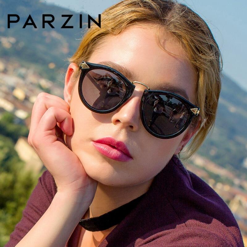 PARZIN Brand Sunglasses Women Retro Round Sun Glasses For Female Quality Polarized Glasses With Original Case Anti-UV400