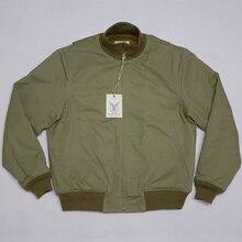 Bob Dong Retro WW2 Tanker Jacket Plain Versie Winter Militaire Combat Uniform