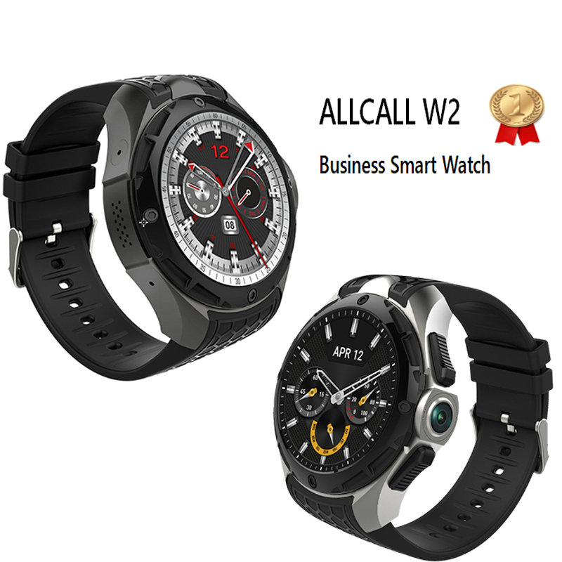 Multifunctional smart watches 2GB+16GB gps watch 3G Heartrate support nano sim card ALLCALL W2 intelligent clock with free gift