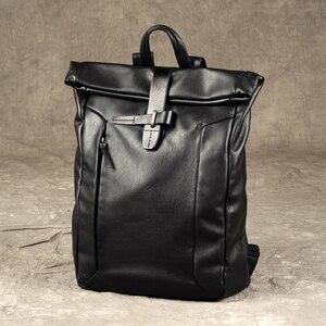 Image 3 - AETOO A primeira camada de couro mochila masculino mochila mochila de couro do vintage marca de moda de lazer saco de viagem de couro grande
