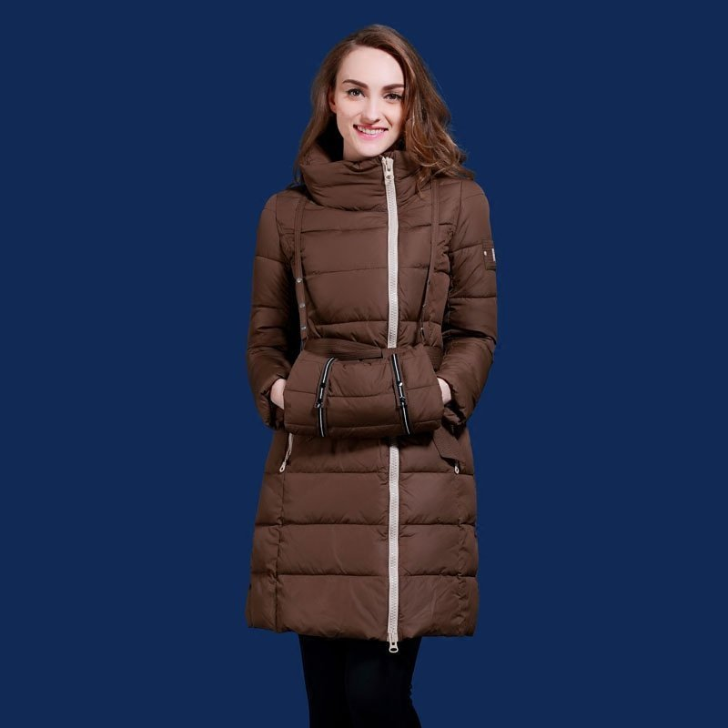 Thickening women's coats with a hood medium-long slim hand bag outerwear park Europe and Russia plus size S-2XL MSDS-Q515C attractive round neck racerback tank top for women