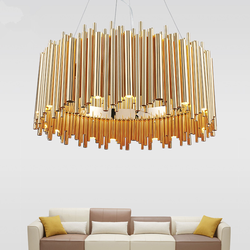 Modern LED Chandelier Round Gold Suspension Luminaire Hanging lamp for kitchen living room lighting Fixtures home lighting 40 60 80cm modern led hanging chandeliers for living dining room kitchen light led pendant chandelier indoor lighting luminaire