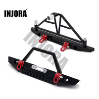 1 10 RC Crawler Metal Front Rear Bumper With Lights For 1 10 Axial SCX10 RC