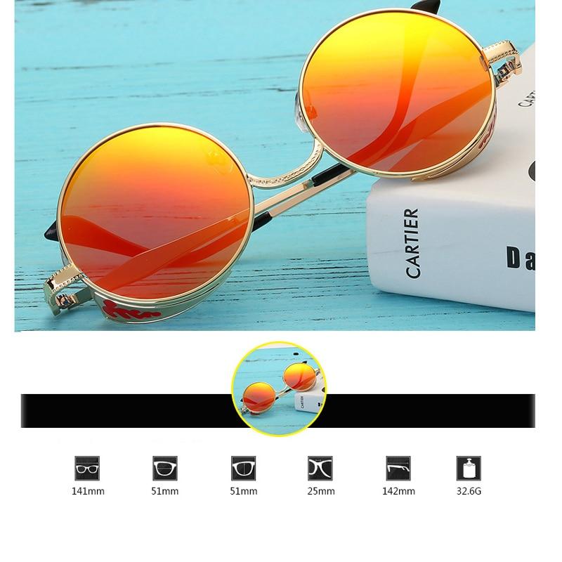Metal Frame Vintage Round Sunglasses Men Polarized Lunettes Rondes Unisex Steampunk Goggles Zonnebril Mannen Shades for Women 4