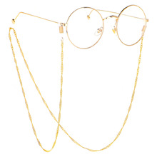 2019 Fashion Womens Gold Eyeglass Chains Sunglasses Reading Stainless Steel Glasses Chain Eyewears Cord Holder neck strap Rope