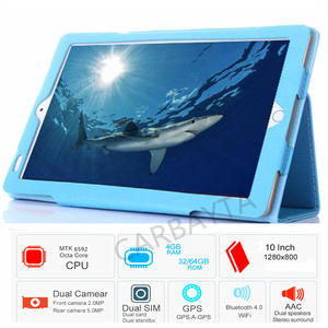 P80 10.1 '32 GB Case WIFI GPS OTG Tablet PC Dual Camera Dual SIM Android Octa Core