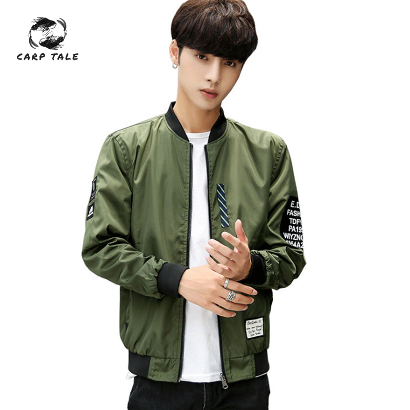 Korean version of the cross border exclusive men 39 s jacket spring new air force suit pilot jacket double sided coat wholesale in Jackets from Men 39 s Clothing