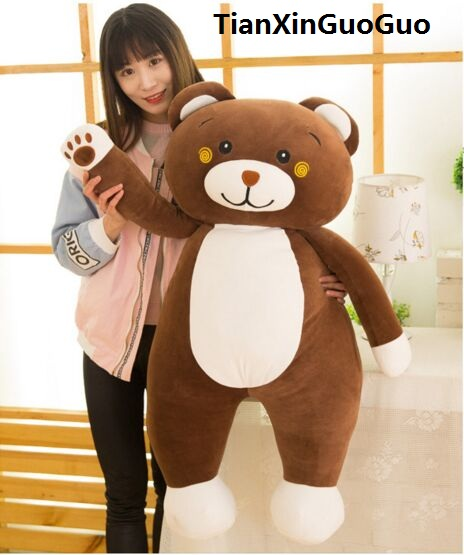 large 95cm lovely cartoon brown bear plush toy soft  cotton bear doll hugging pillow birthday gift s0034 кулоны подвески медальоны sokolov 731501 s