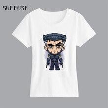 0e8e142bf Cartoon Wolveriner T-Shirt Short Sleeves Casual T-Shirt Women's Fashion  O-neck