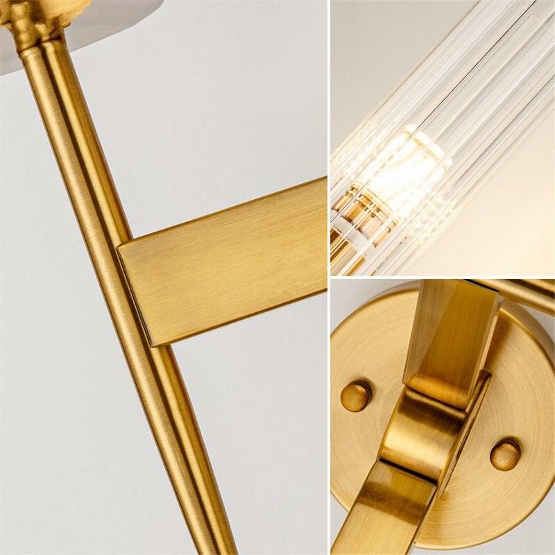 Пост современный золотой настенный светильник спальня кухня лестница Led настенное зеркало с подсветкой промышленный декор столовая Прихожая стекло освещение приспособление - 5