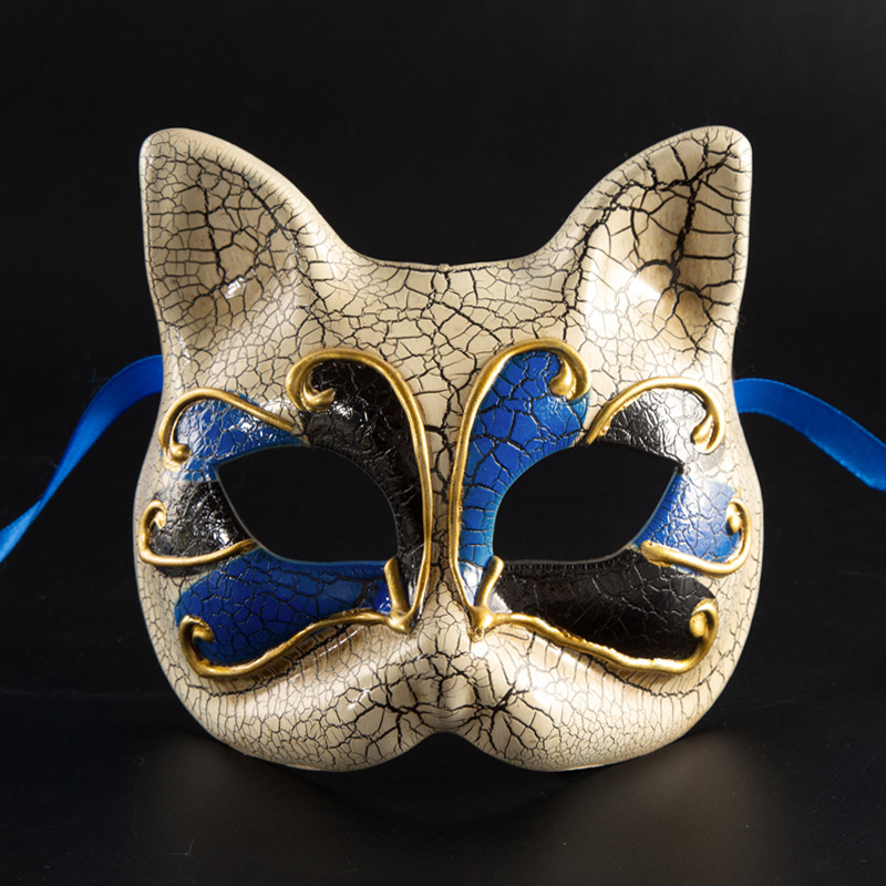 Cat Shape Masquerade Mask For Children Venetian Masks Halloween Maske Mascaras Cosplay Kids Performances Theme Party Masque in Party Masks from Home Garden