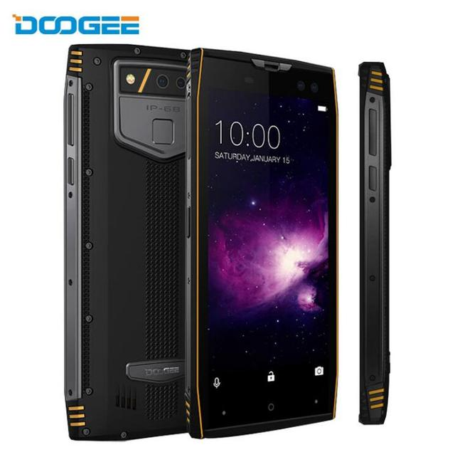"DOOGEE S50 Helio P23 Octa Core IP68 Waterproof 5.7"" 18:9 Full Display 6GB+128GB Android 7.1 16MP 4 Cams Fingerprint Mobile Phone"