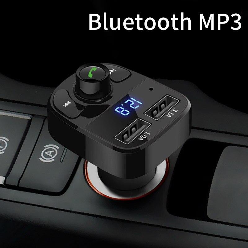 Mp3 Player Wireless Bluetooth Fm Transmitter Modulator HandsFree Car Kit For Univeral Car Use Handsfree Calling Radio Adapter