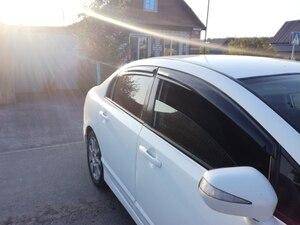 Image 2 - Car Window Visor Vent Ombra Deflettori Pioggia Sun Guard Copertura Per Honda Civic 2006 2007 2008 2009 2010 2011 4dr sedan Car Styling