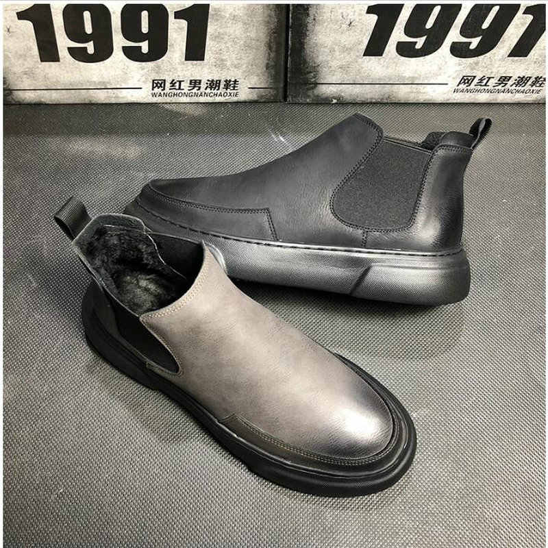 d72b6166713c45 ... 2019 High Top Oxford Boots Men Flats Platform Casual Shoes Autumn  Fashion Slip On chelsea ankle ...