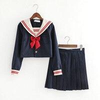 New Arrival Japanese Jk Sets School Uniform Girls Long /short Sleeve Autumn High School Women Novelty Sailor Suits Uniforms XXL