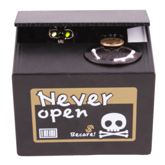 Skeleton Bank Ghost Money Box with Popping Skull