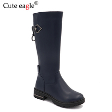 Cute eagle Winter Girls High Felt Boots  Warm With Plush Children Snow New Rubber Outdoor Snowshoe