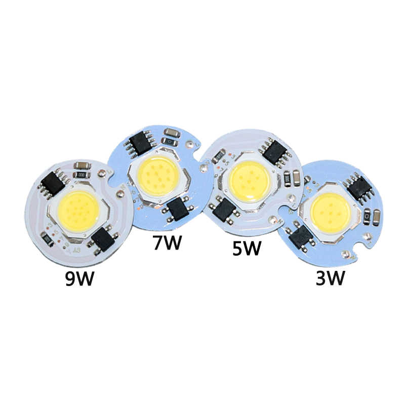 3W 5W 7W 10W 12W AC220V LED Lamp Chip Cold White Warm White led COB Smart IC Driver Fit For DIY LED Spotlight Floodlight