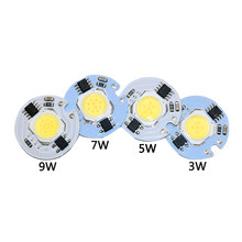 3W 5W 7W 10W 12W AC220V lampe à LED puce blanc froid blanc chaud LED COB Smart IC pilote adapté pour bricolage LED projecteur projecteur(China)