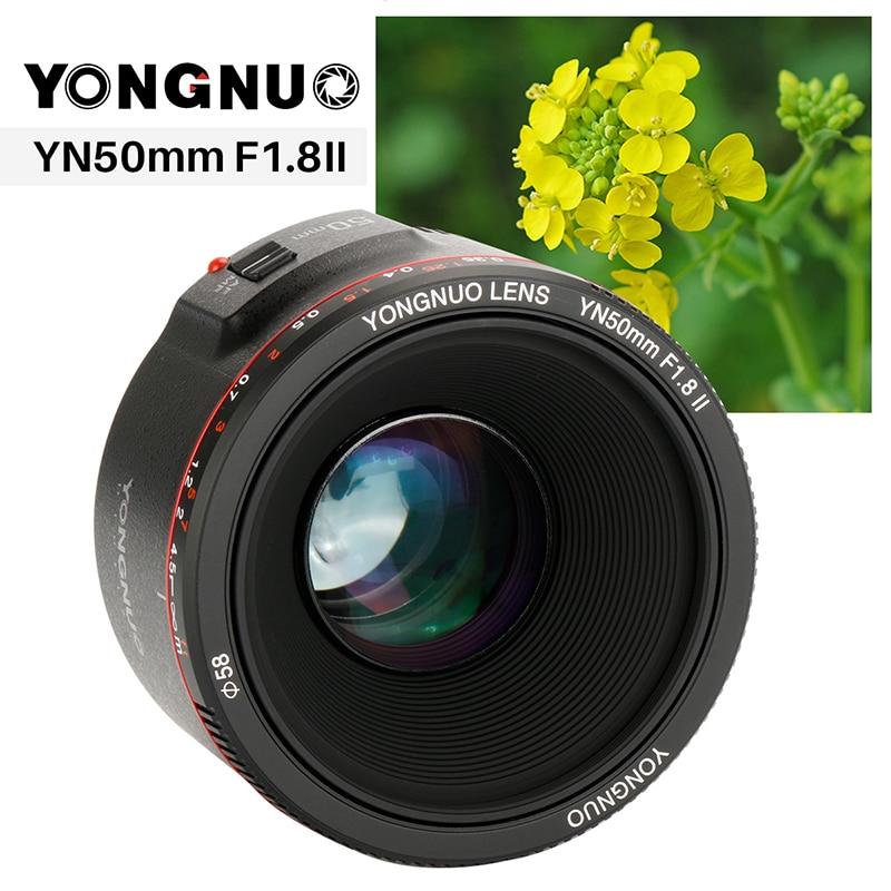 Updated YONGNUO YN50mm F1.8 II Fixed Lens AF/MF 50mm lense Large Aperture Metal Mount Focus Lens for Canon EOS 5D3 600D 1200D ismartdigi lp e6 7 4v 1800mah lithium battery for canon eos 60d eos 5d mark ii eos 7d