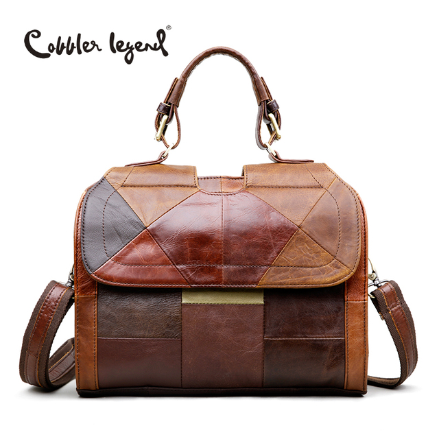 Cobbler Legend Women's Shoulder Messenger Bags Retro Genuine Leather Lady Female Handbag Women Vintage Style Hand Bag 12060310-1