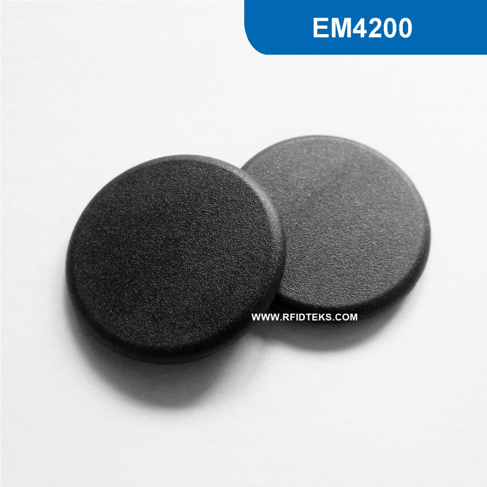 G24 Dia 24mm High Temperature RFID laundry Tag for Asset Tracking LF 125KHz Read only with EM4200 Chip Free Shipping