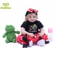 20inches 50CM silicone reborn baby doll Bonecas Baby Reborn realistic magnetic pacifier bebe doll reborn for girl Gifts toys