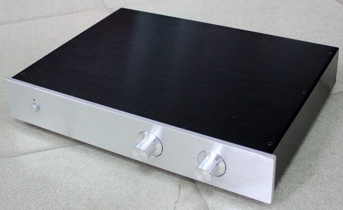 Full Aluminum Amplifier Chassis Amp Enclosure Preamp Box 425*70*313mm wa19 aluminum chassis pre amplifier chassis enclosure box 313 425 90mm