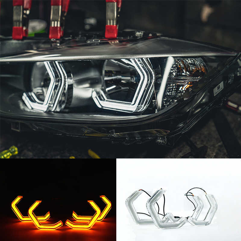Switchback Concept M4 Iconic Style LED Crystal Angel Eye Kit Eyes Kits for BMW M4 F80 2 3 4 series F30 F31 F32 3GT F34 M2