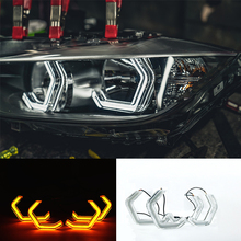 Switchback Concept M4 Iconic Style LED Crystal Angel Eye Kit Eyes Kits for BMW F80 2 3 4 series F30 F31 F32 3GT F34 M2