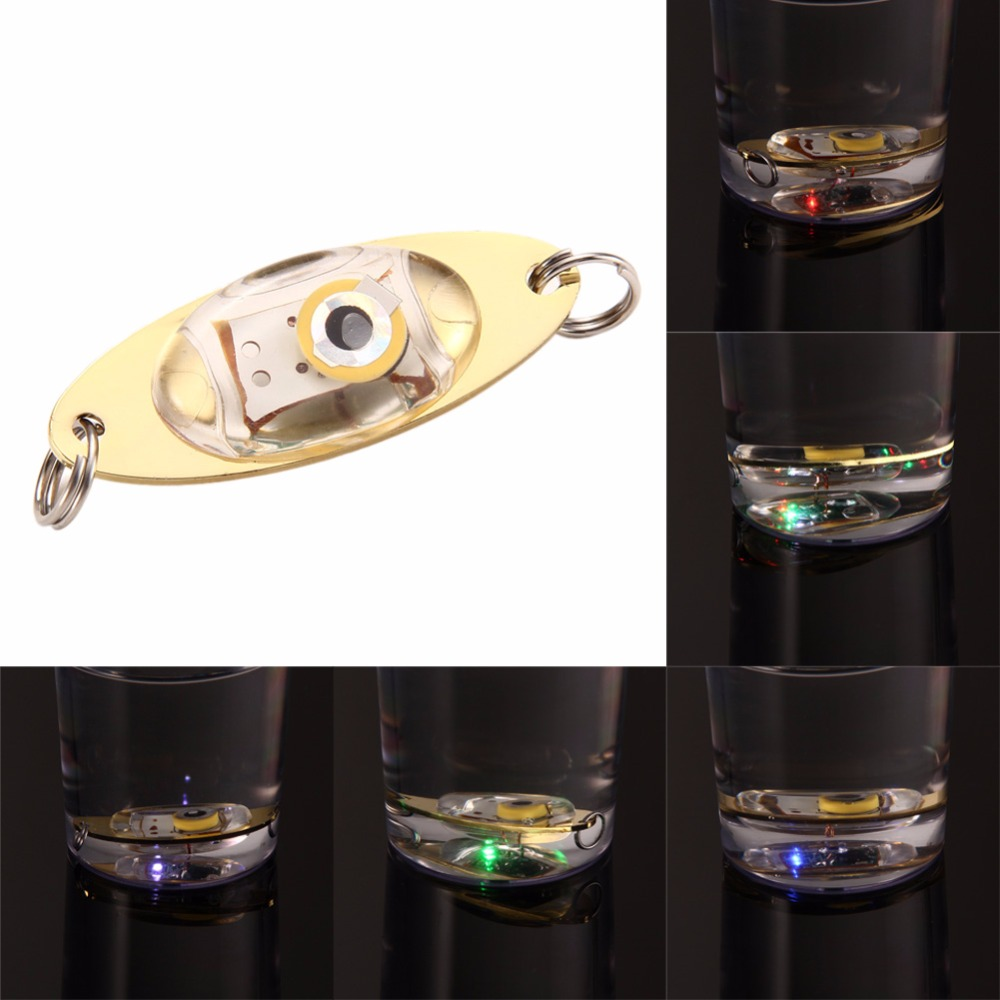 5 Colors LED Deep Drop Underwater Eye Shape Fishing Squid Fish Lure Light Wholesale