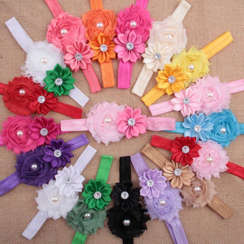 Hair Girl Newborn Baby Headband Ribbon Toddler Infant Kid Bows Pearl Crystal Floral Handmade DIY Turban Flower Accessories 39607h c1909a new tab cof module