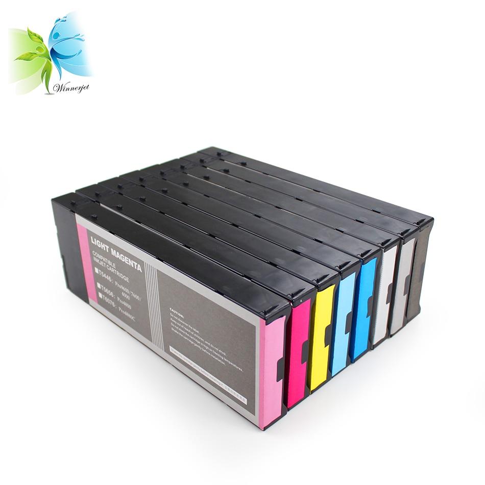 WINNERJET 220ml Disposable Compatible Ink Cartridge For Epson Stylus Pro 4000 7600 9600 Printer 8 Colors