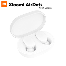 Original Xiaomi AirDots Youth Version TWS Wireless Bluetooth Earphone 5.0 with Mic and Charging Dock Box