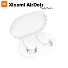 Oryginalna wersja młodzieżowa Xiaomi AirDots TWS bezprzewodowa słuchawka Bluetooth 5.0 z mikrofonem i ładowarką